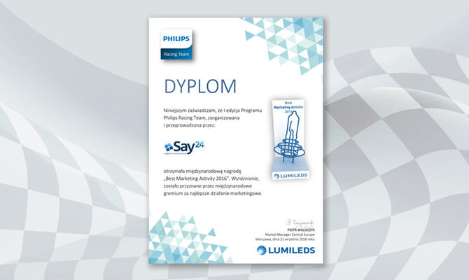 Philips Racing Team nagrodzony